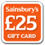 &pound;25 Sainsburys Gift Card
